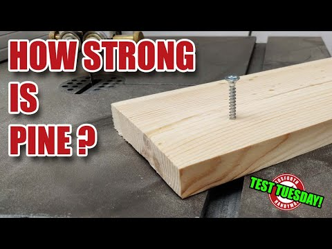 How strong is PINE softwood? Test Tuesday!
