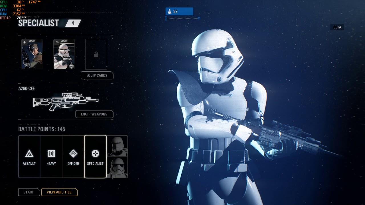 Star Wars Battlefront II Beta DirectX 12 Ultra Settings performance on GTX  1050Ti(Bad Test)