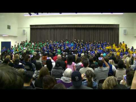 Feb 2015 josiah school music performance at South Point Middle School