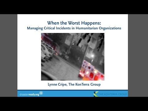Webinar - Managing Critical Incidents