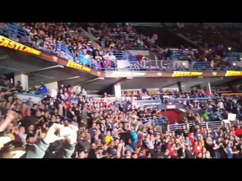 Goldberg celebrates his Universal Title win at WWE Fastlane 2017