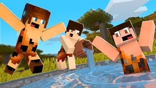 CONSTRUÍMOS UMA PISCINA !! - Minecraft Primitivo #10