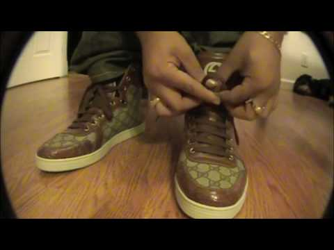 ee25bcd1e Gucci High Top Premium Shoes and Belt - YouTube