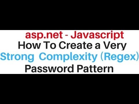 Implement strong password complexity validation asp net javascript
