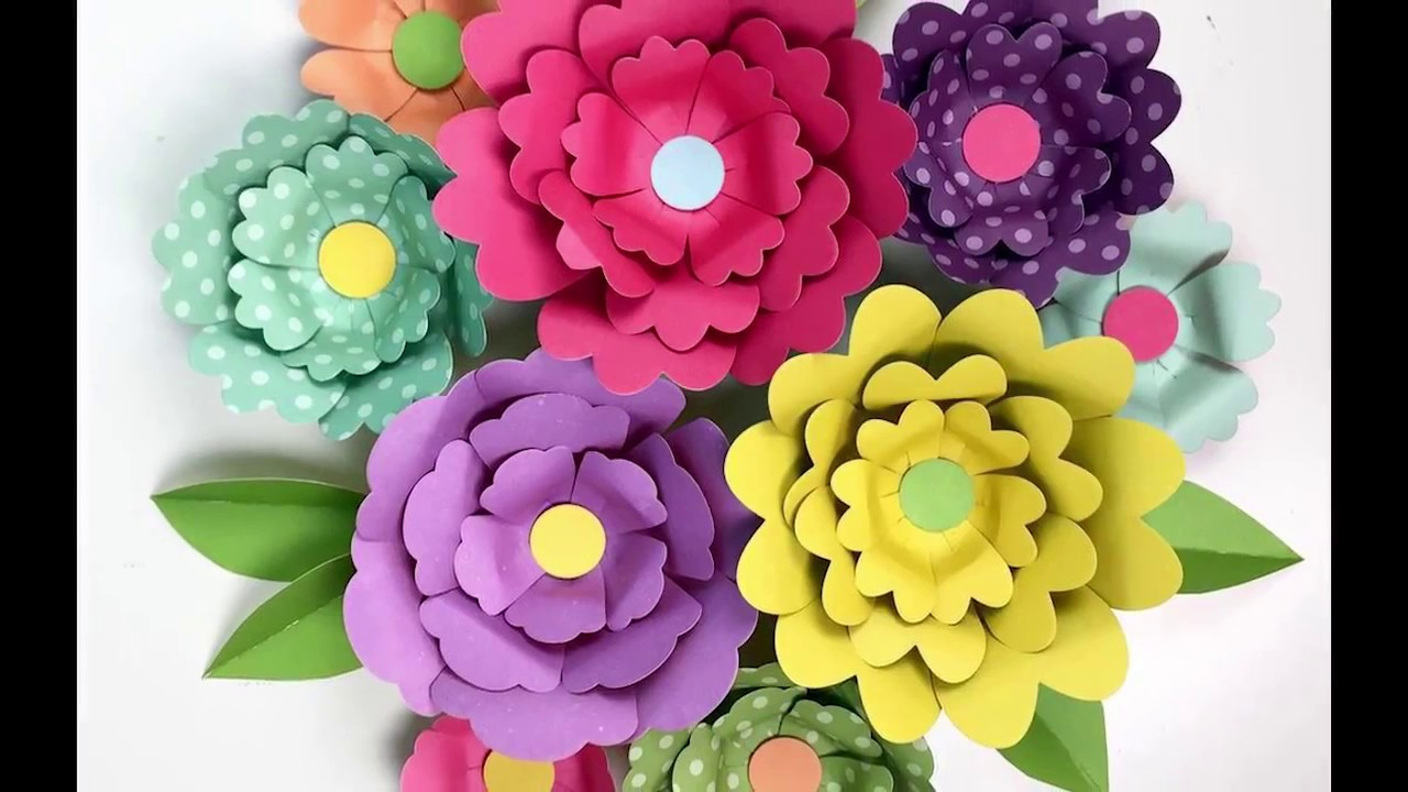 3d Paper Flowers From Echo Park Paper Youtube