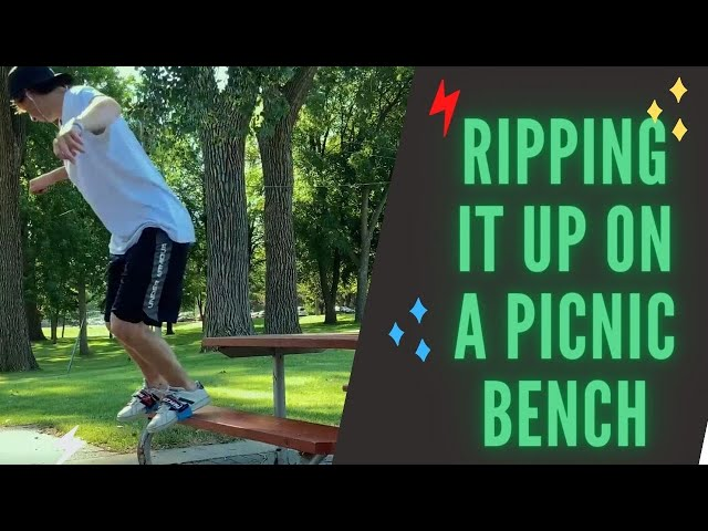 Ripping it up on a Picnic Bench | Skidz Grindplates