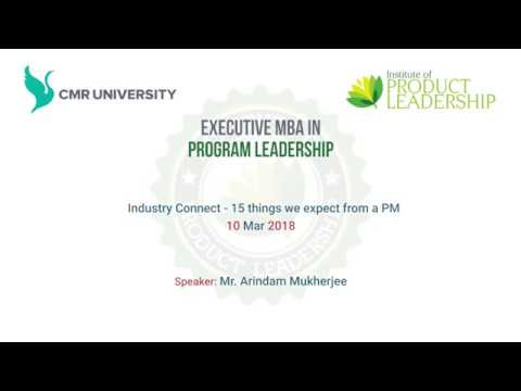Industry Connect - 15 things we expect from a PM by Mr. Arindam Mukherjee