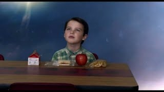 Sheldon's sitting alone in the dining room - Young sheldon