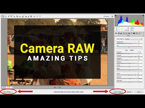 Camera RAW Photo Editing | How To Open Photo In Camera RAW Photoshop