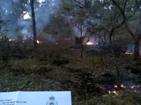 Burning With A Fire Permit, In The Bushfire Danger Season...