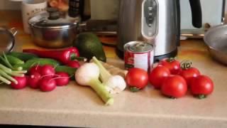 Индийская кухня. Фасоль, баклажаны, салат