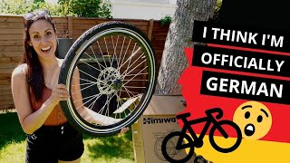 WHY ARE GERMANS SO CRAZY ABOUT BIKES?! | HIMIWAY E-BIKE 🚲 UNBOXING & NEIGHBOURHOOD TOUR
