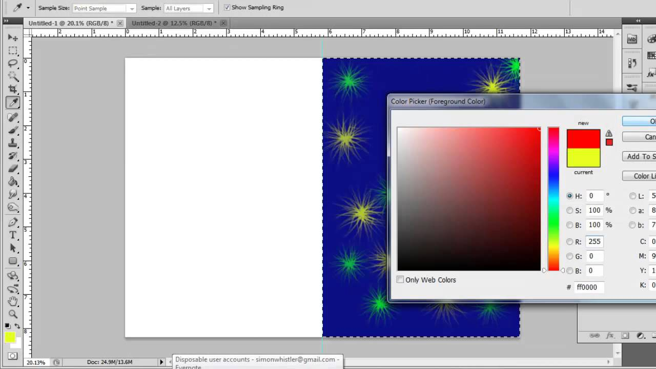 How to Create Greeting Card in Photoshop CS5 YouTube – Size of Birthday Card