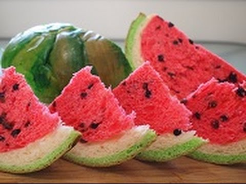 How To Make Watermelon Bread That Looks Like Real Watermelon Youtube