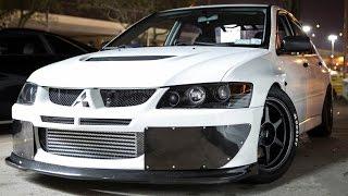 Repeat youtube video 1000hp Mitsubishi EVO vs 1300hp CORVETTE!