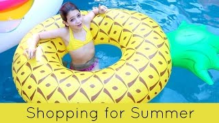 Shopping for Summer 2017 Video | Target & Walmart | Filling the Pool FULL of pool Floats