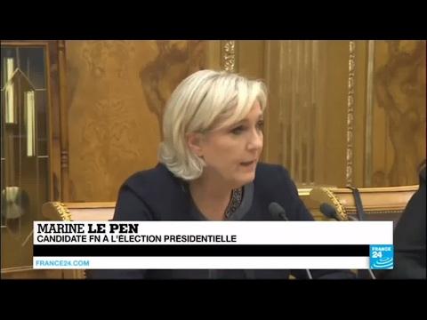 """Marine Le Pen : """"j'ai toujours pris position contre les sanctions qui ont frappé la Russie"""""""