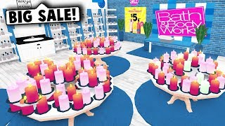 I MADE A BATH AND BODY WORKS IN MY MALL ON BLOXBURG! (Roblox)