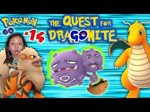 POKEMON GO Quest 4 Dragonite! 10k Eggs & NEW POKEDEX ADDITIONS (Part 14 Gameplay w/ FGTEEV Kids)