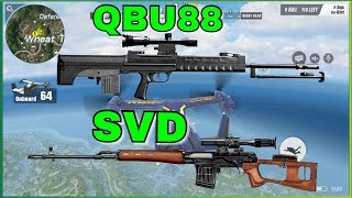 THE BETTER SNIPER: QBU88 vs SVD Comparison! | Rules of Survival