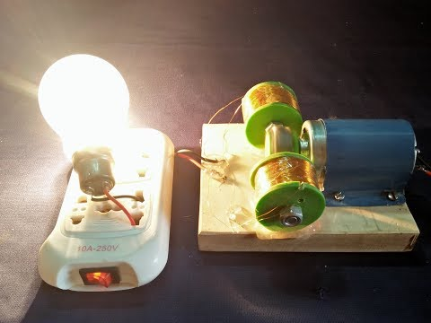 230v || FREE ENERGY GENERATOR ||100% Real New Technology Project With Motor And Copper Wire