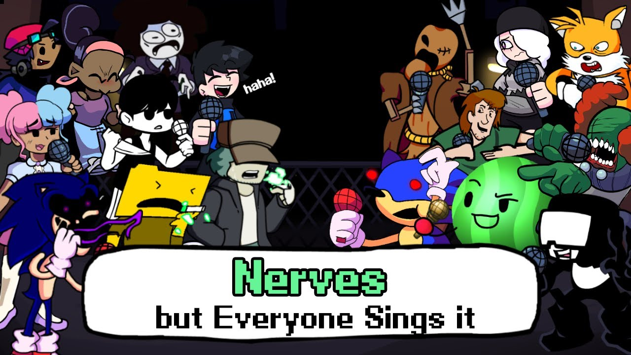 Download FNF Nerves but everyone sings it - Friday Night Funkin' Cover