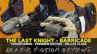 Transformers The Last Knight Deluxe Barricade - Premiere Edition - Review