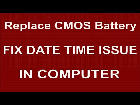 How to Replace CMOS Battery Fix Date Time Issue in Computer