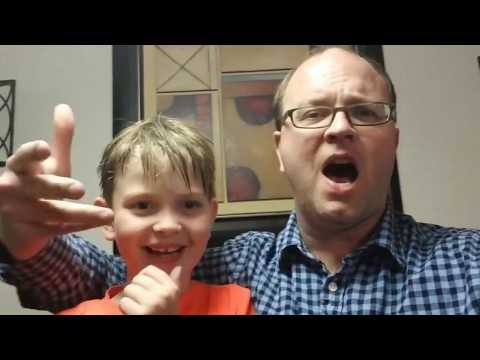 Jack and Dad sing the Dallas Data Science Conference Kind-Of-Official Theme Song