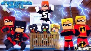 Minecraft MY NEW SUPERHERO FAMILY IS......... THE INCREDIBLES 2