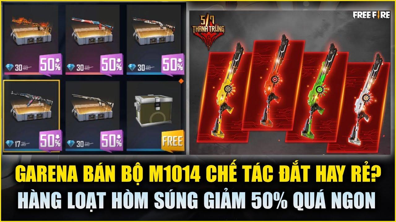 Free Fire | M1014 Chế Tác Sẽ Bán Giá Bao Nhiêu? - Garena Cho Thử AK Rồng Lửa FREE | Rikaki Gaming
