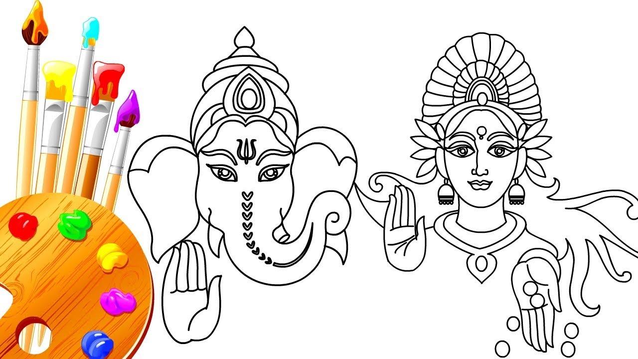 Diwali coloring pages lakshmi mata laxmi goddess t for Lakshmi coloring pages