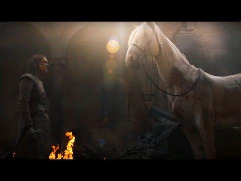 Арья и Белая лошадь. Арья Старк. Игра престолов 8 сезон 5 серия. Game Of Thrones.