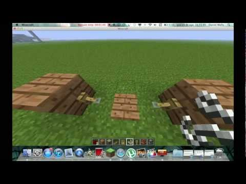 Como Usar O  Gancho De Armadilha - Minecraft(1.3.1)