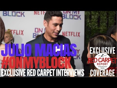 Julio Macias interviewed at Premiere of Netflix's coming of age comedy