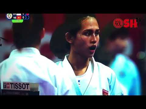 Ceyco (Indonesia) Vs Thi Ngoan (Vietnam) Pada Asian Games 2018 Cabor Karate Kelas Kumite -68 Kg