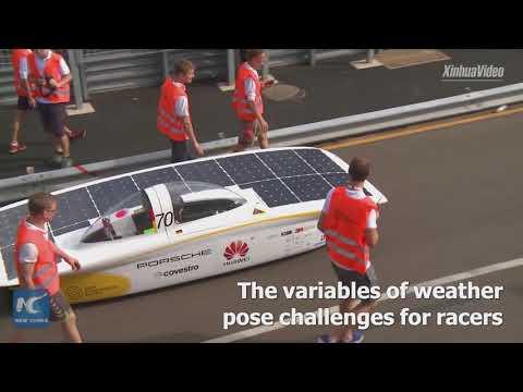 Solar cars race in Down Under