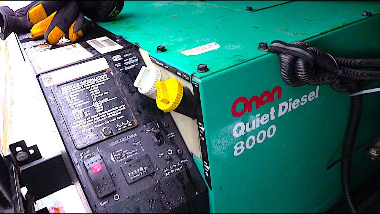 Motorhome RV Generator Doesn't Start A Very Quiet Onan