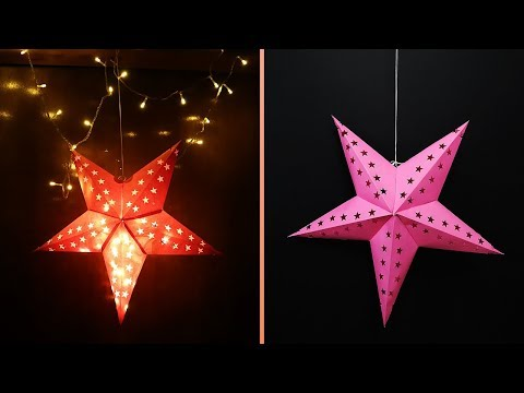 DIY- Star Lantern |  How to Make Paper Star Lantern Kandil for Christmas Decor/ New Year / Diwali