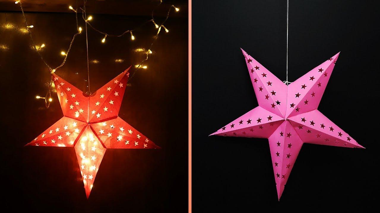 Diy Star Lantern How To Make Paper Star Lantern Kandil For