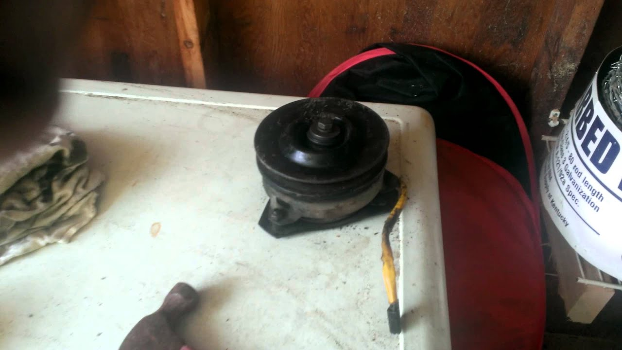 Riding Mower Pto Clutch Removal
