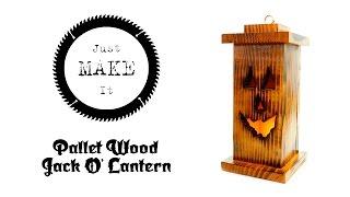 DIY Pallet Wood Jack O' Lantern - Minimal Tools