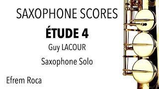 ÉTUDE 4 – Guy LACOUR – Saxophone SOLO – 50 ÉTUDES FACILES PROGRESSIVES