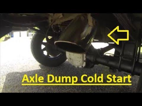 obs powerstroke cold start 8 axle dump exhaust