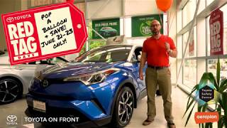Toyota On Front - Pop A Balloon And Save up to $1000!