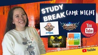 Online Tutorial : | Study Break - Game Night