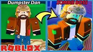 DUMPSTER DIVER DAN WAS INFECTED!!  Roblox Field Trip Z New Ending