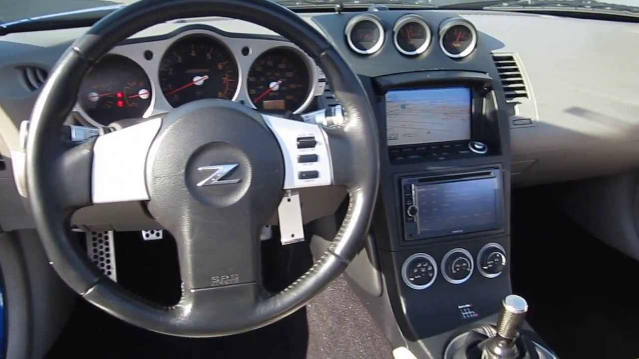 2004 nissan 350z blue stock b1995a interior youtube vanachro Images
