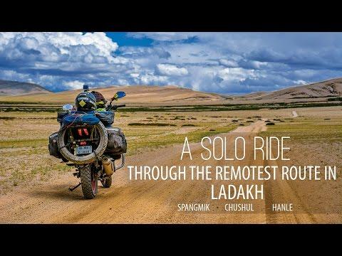 Solo ride through the remotest route of Leh - Ladakh   Pangong lake   Chushul   Hanle  