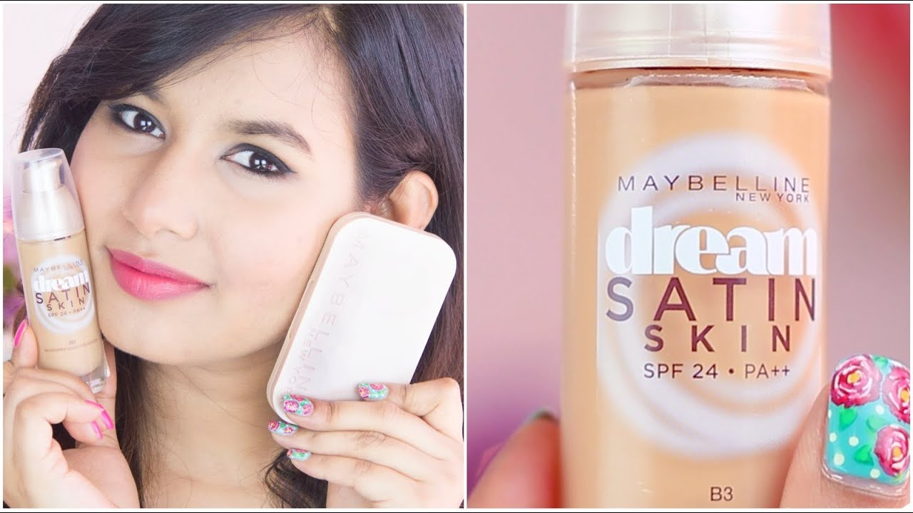 Maybelline Dream Satin Skin Foundation Review & Demo ...